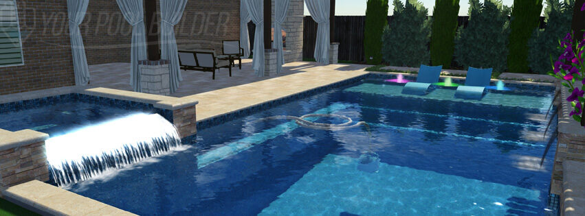 An elegant modern pool design in 3d your pool help for Pool design help