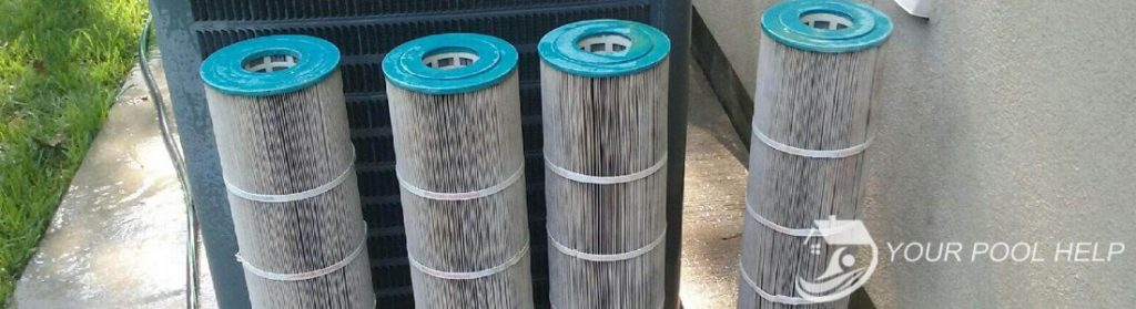 cartridge pool filters cleaning after
