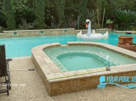 before photos of pool remodel in conroe, tx
