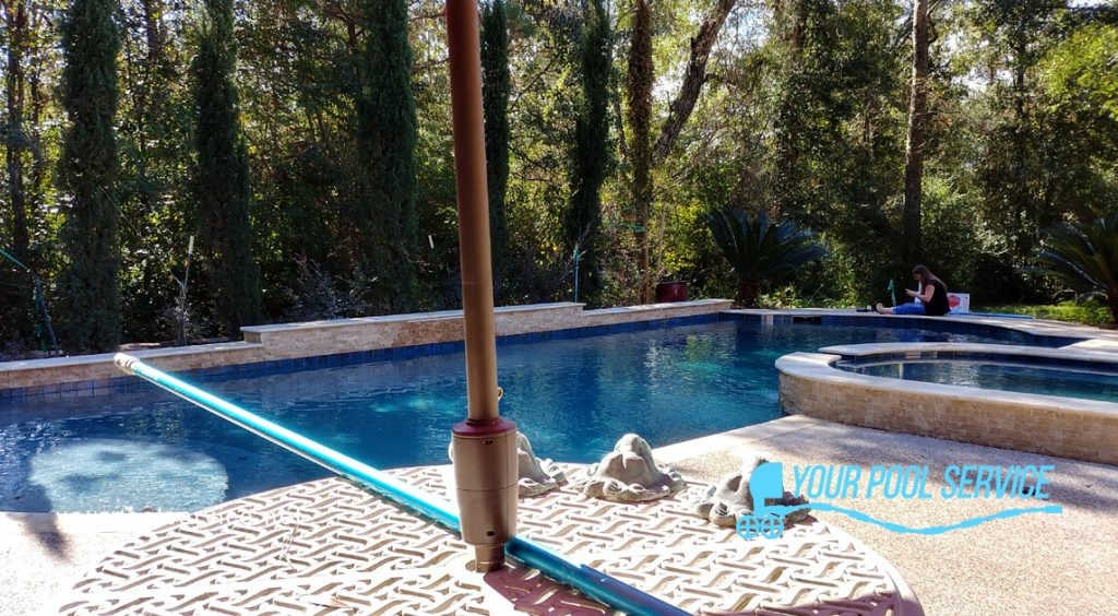 your pool service of texas renovation project in Conroe