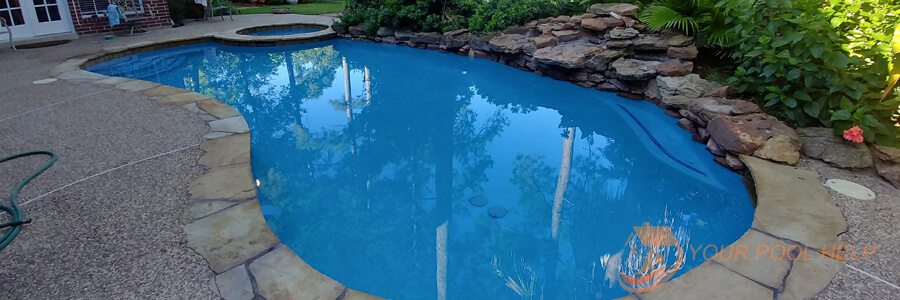 completed swimming pool remodel and repairs