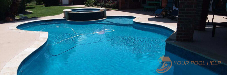 completed swimming pool renovation project after