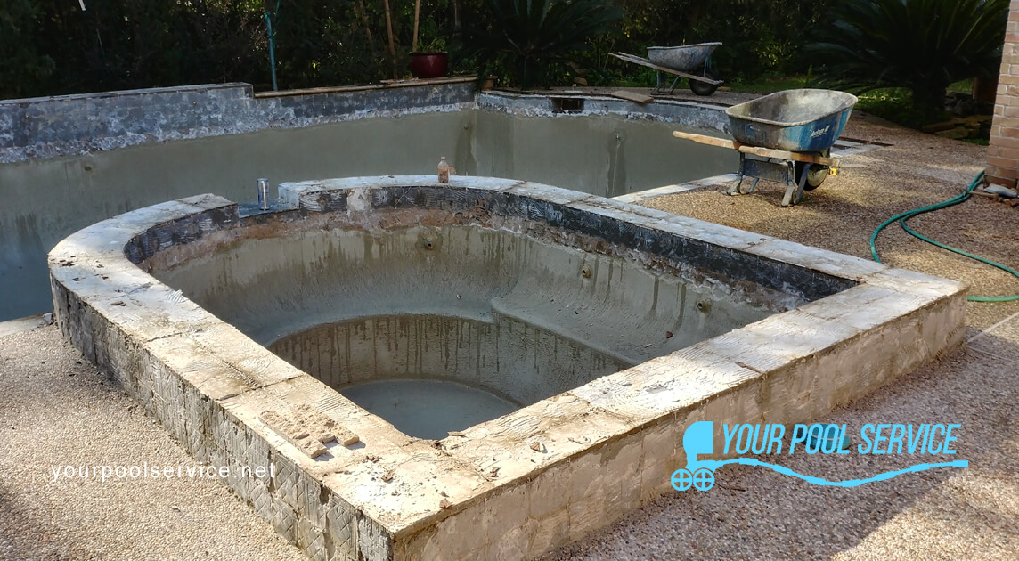 swimming pool remodeling process