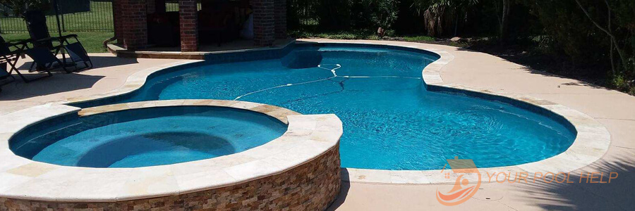 swimming pool remodeling project after complete