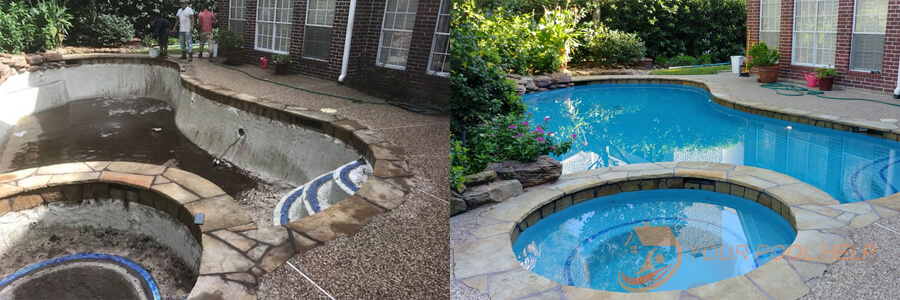 swimming pool remodeling resurfacing before and after
