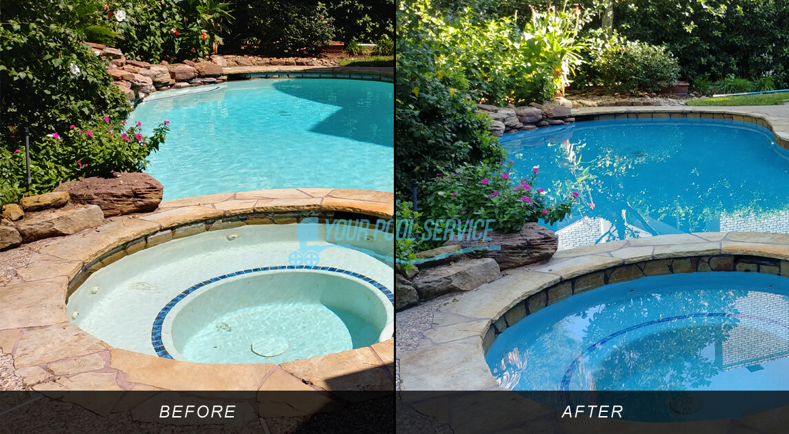 swimming pool resurfacing remodel project in the woodlands 77381