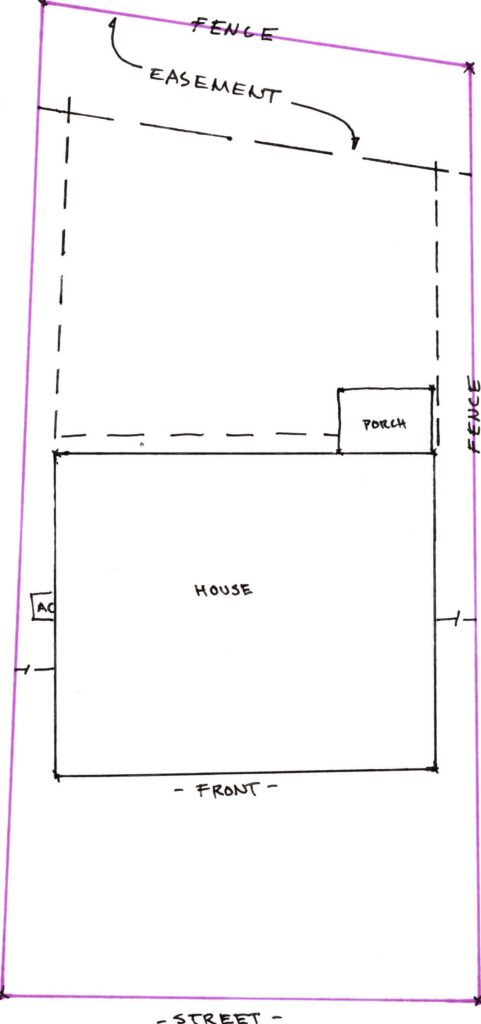 property survey example for install new swimming pool