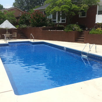 types of inground pools vinyl liner