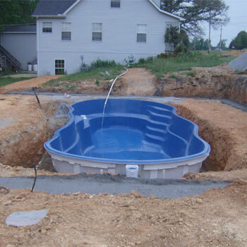 types of inground swimming pools fiberglass