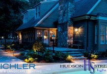 led exterior custom home lighting company in texas