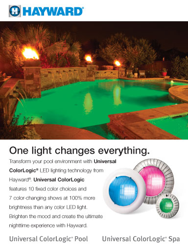 hayward led color logic led pool lights