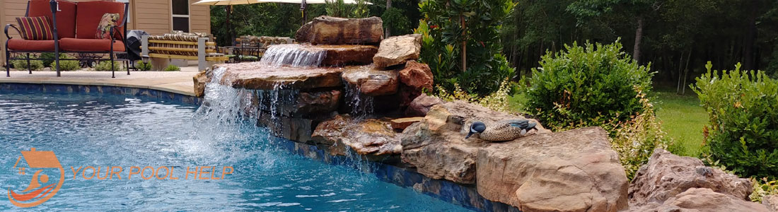waterfall swimming pools