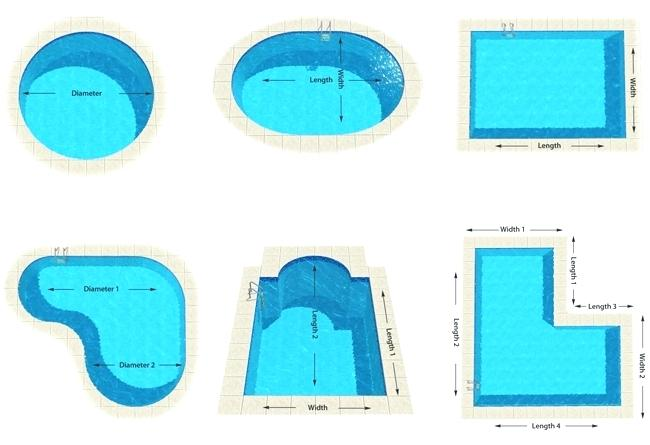 how to measure a swimming pool for water volume calculation
