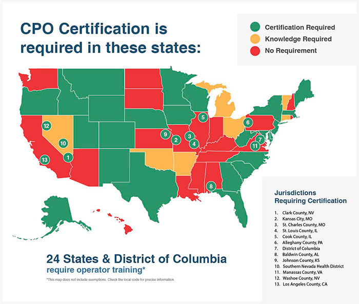 CPO certification required by state 2019