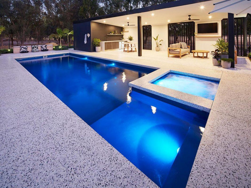 inground fiberglass pool design
